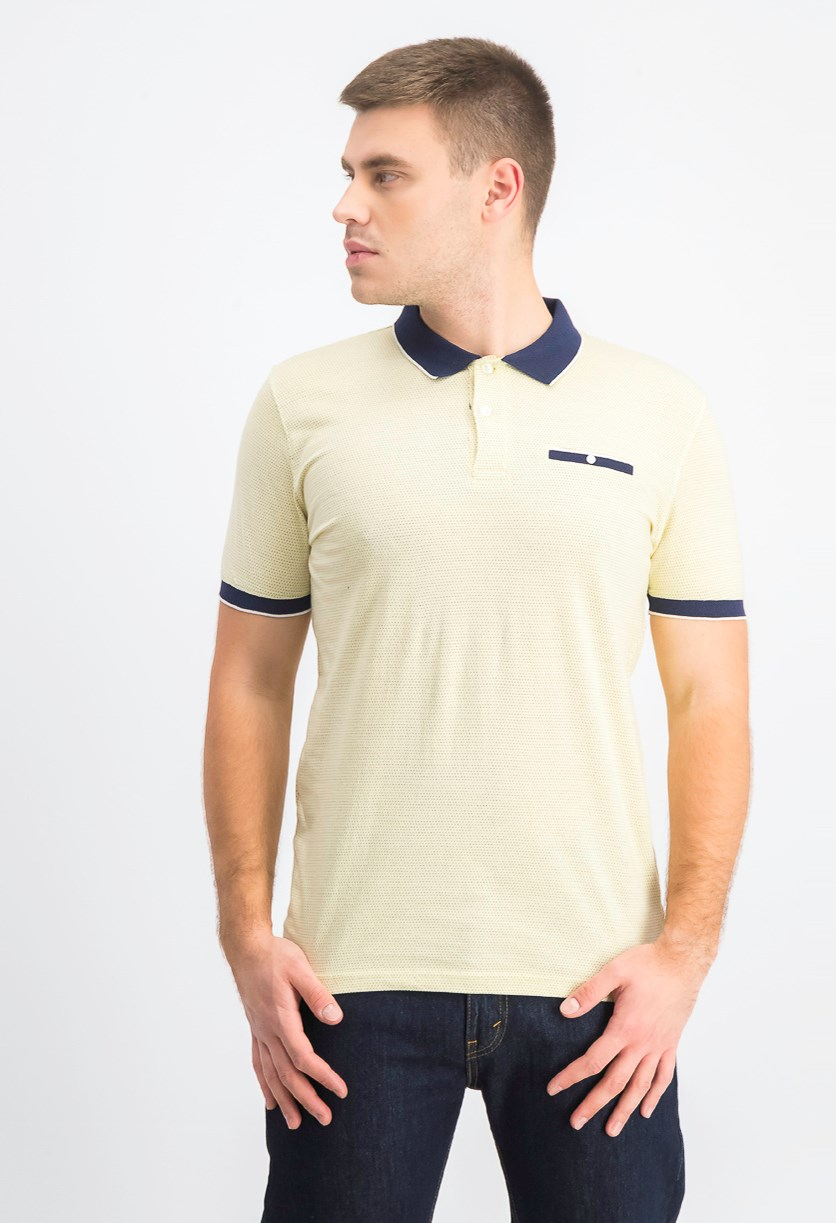 Men's Shortsleeves Polo Shirt, Butter