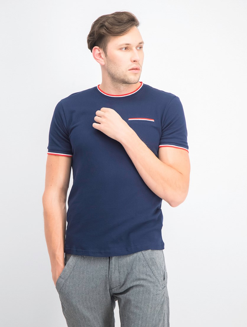 Men's Injected Pique Polo, Navy