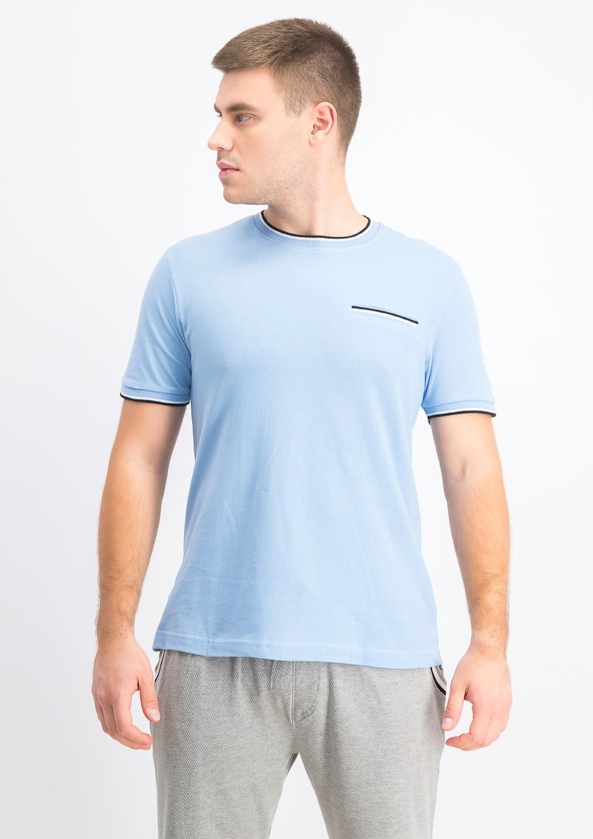Men's Shorts Sleeve T-Shirt, Light Blue
