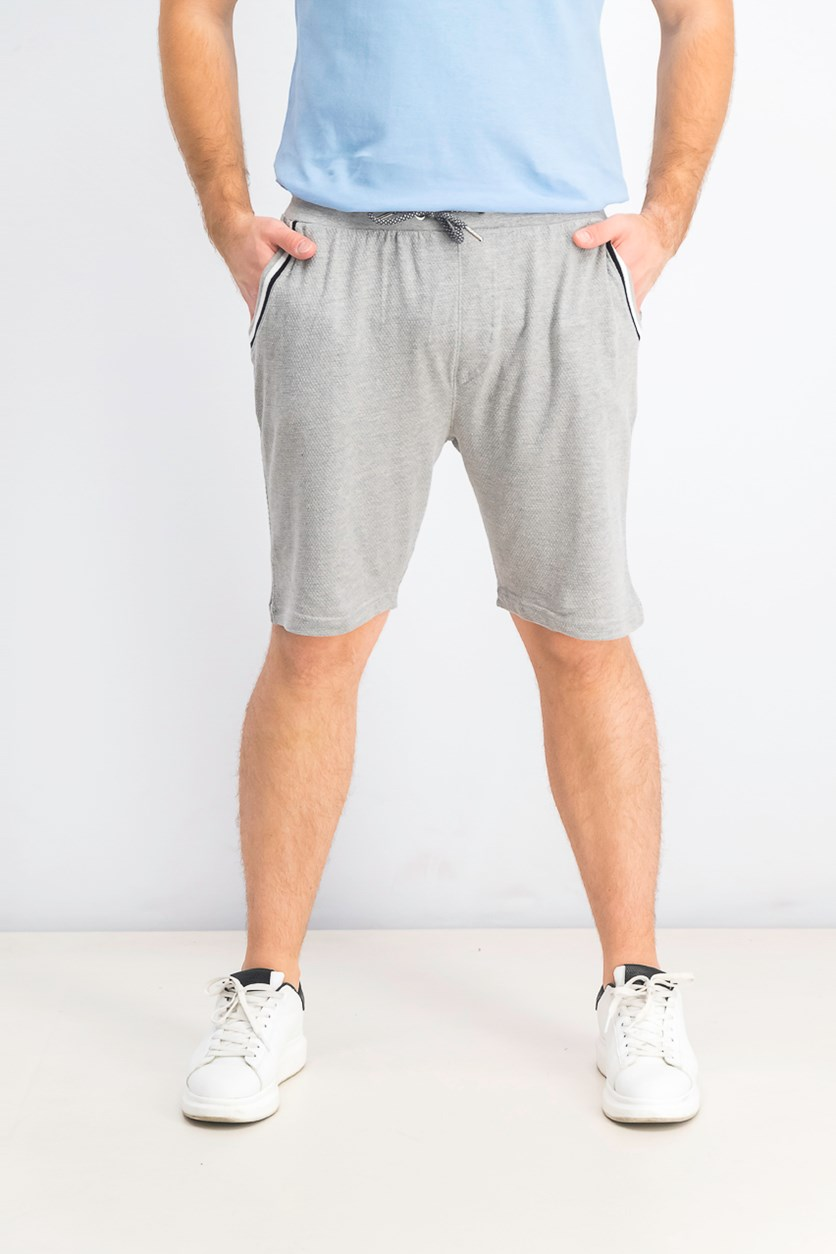 Men's Drawstring Shorts, Heather Grey