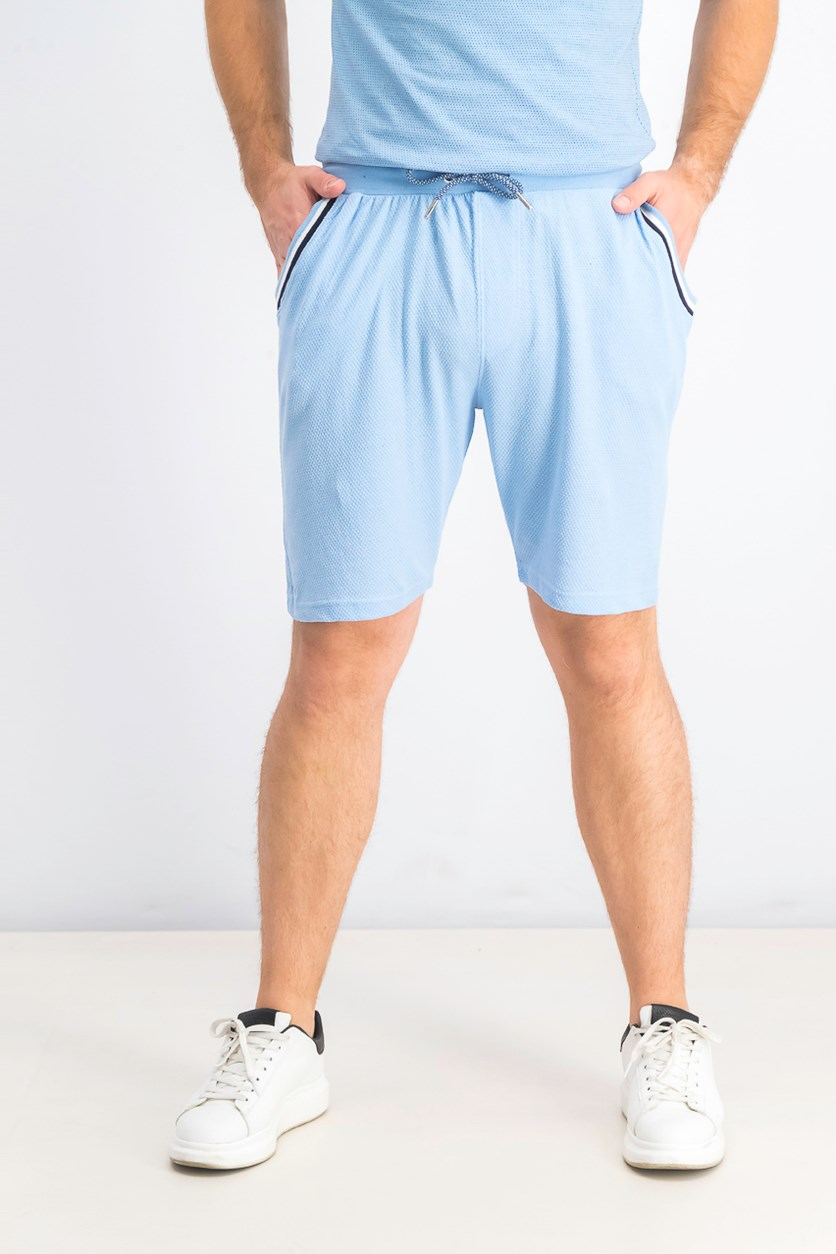 Men's Drawstring Three Pocket Shorts, Light Blue
