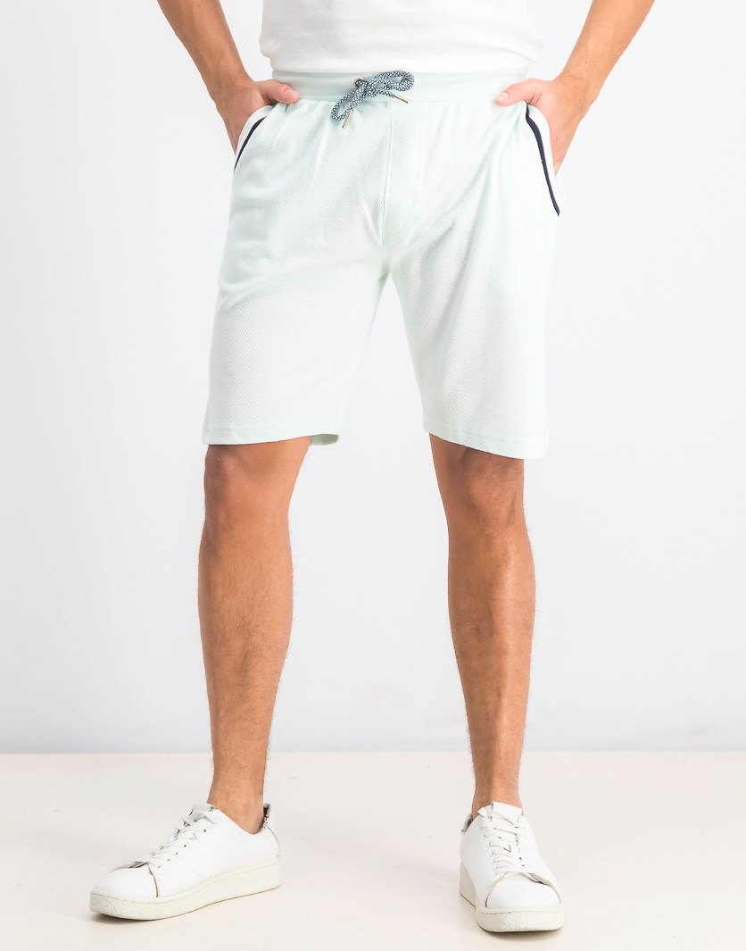 Men's Fancy Textured Knit Shorts, Mint