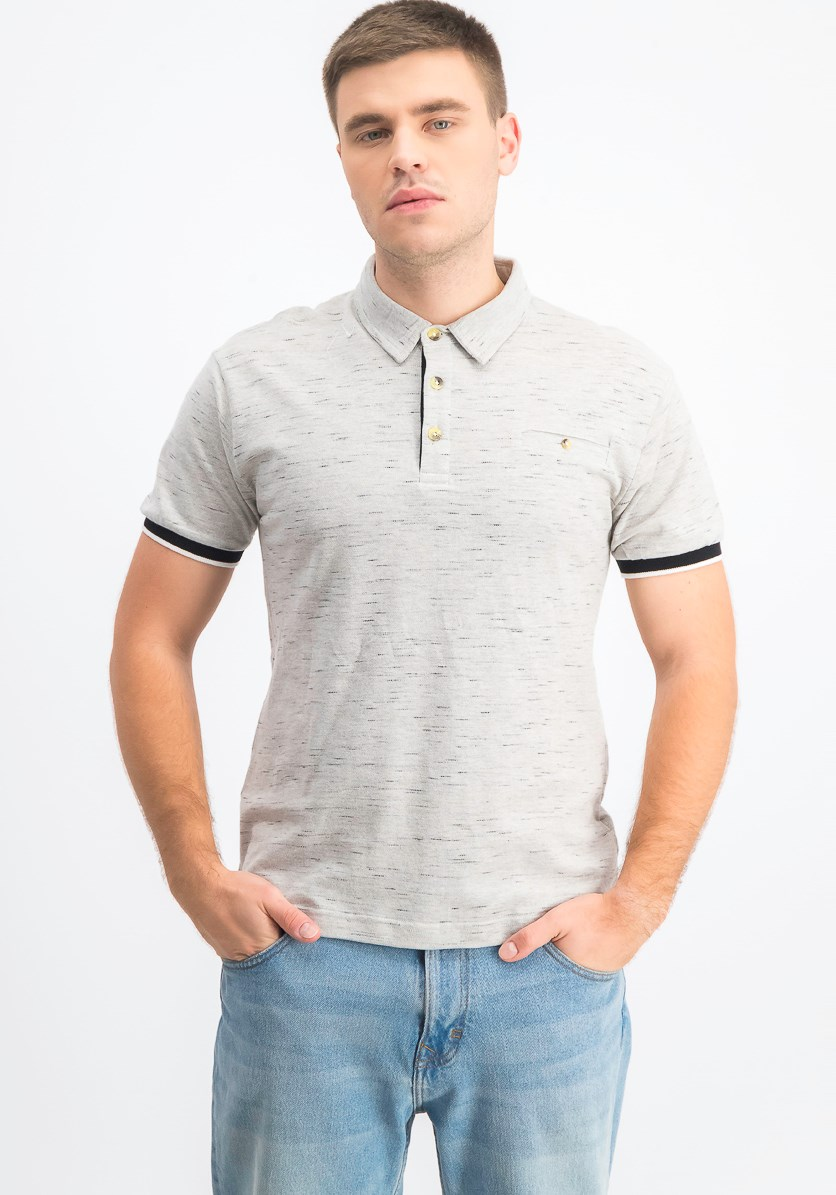 Men's Shortsleeves Polo Shirt, Grey
