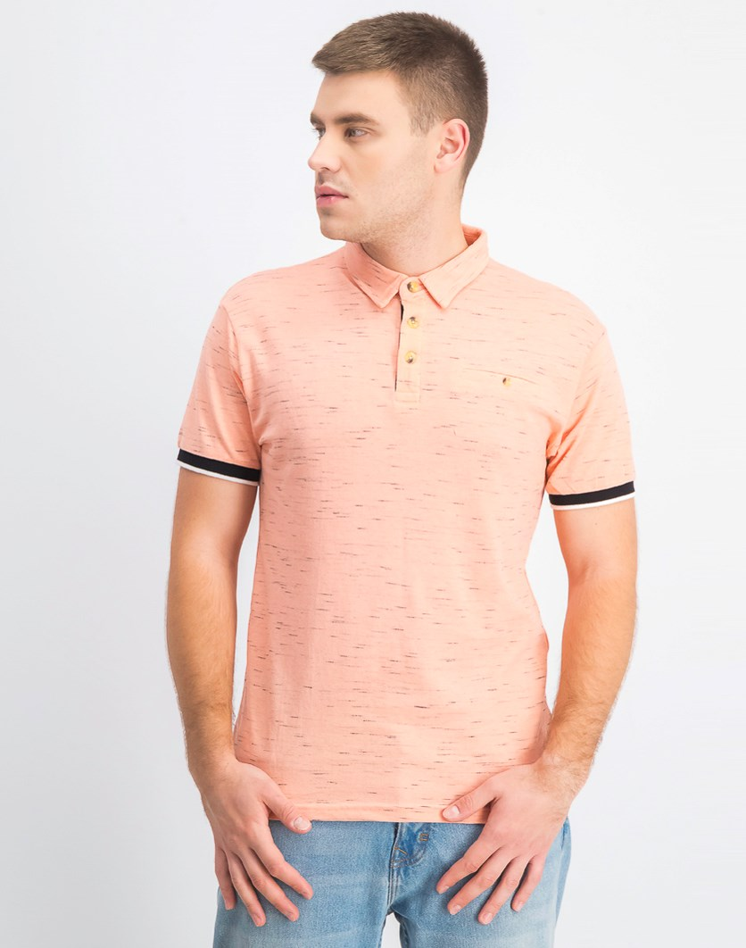 Men's Pique Short Sleeves Polo, Rose