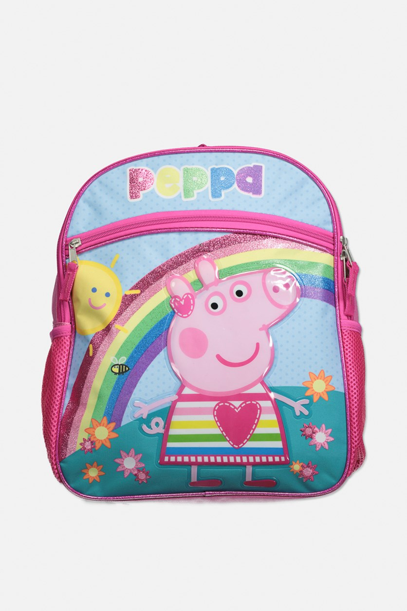 Little Girl's Peppa Pig Graphic Backpack, Pink Combo