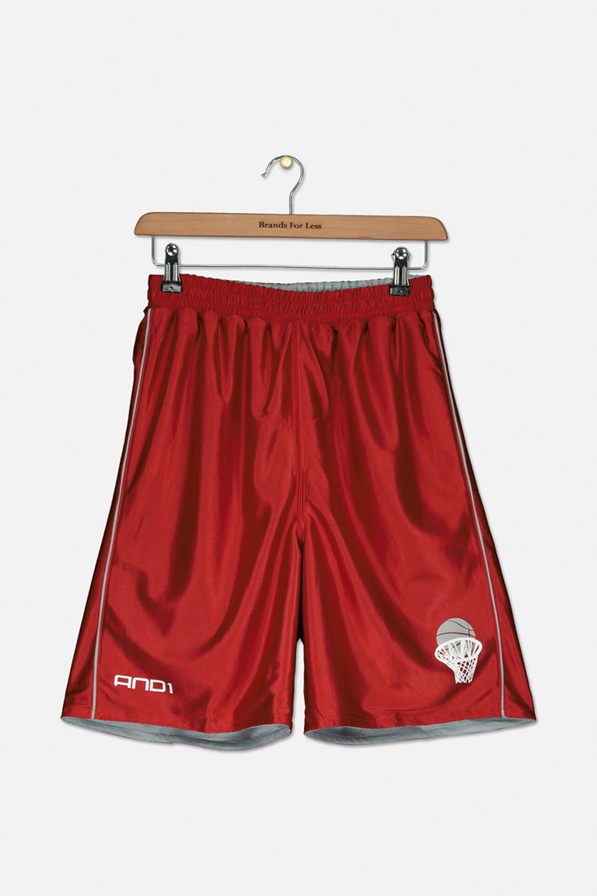Boy's Basketball Short, Red