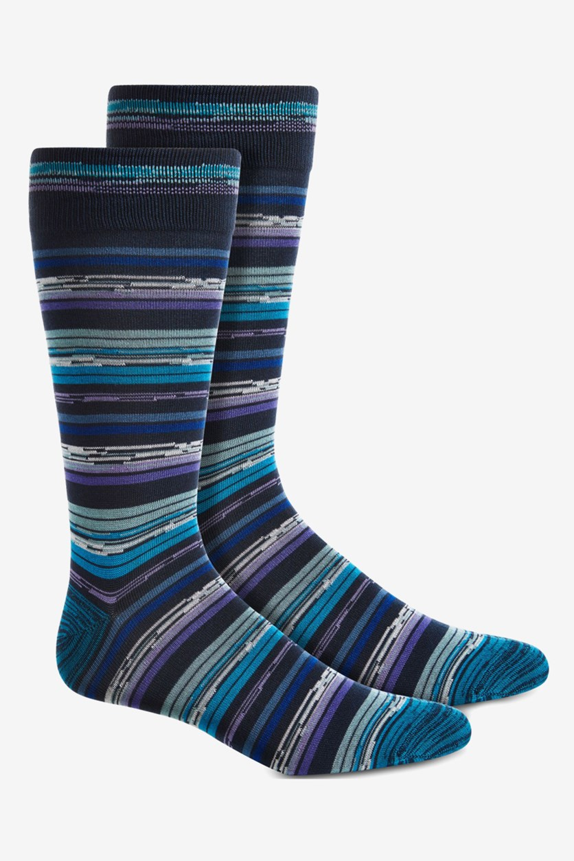 Men's Space-Dyed Socks, Navy