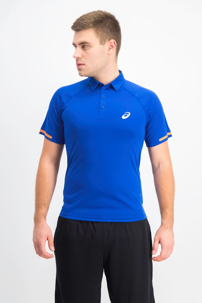 Men's Short Sleeve Polo Shirt, Force Blue