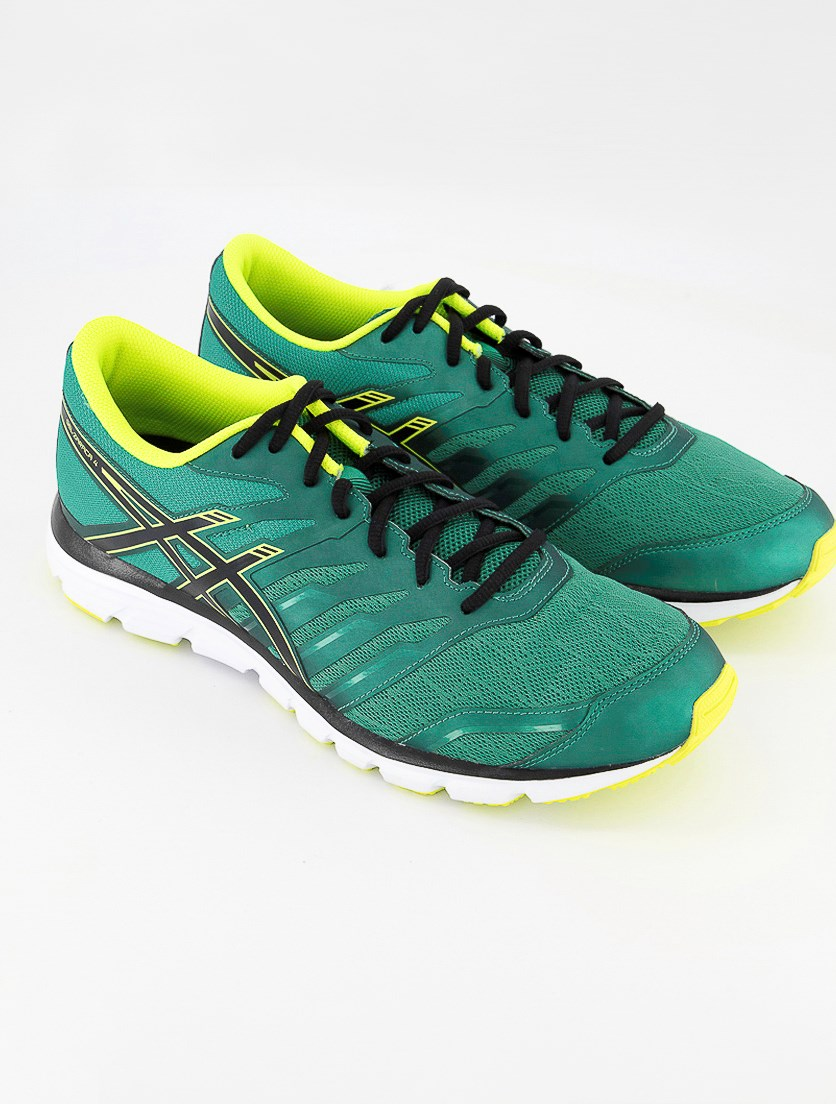 Men's Gel Zaraca 4 Running Shoes, Pine/Flash Yellow/Black
