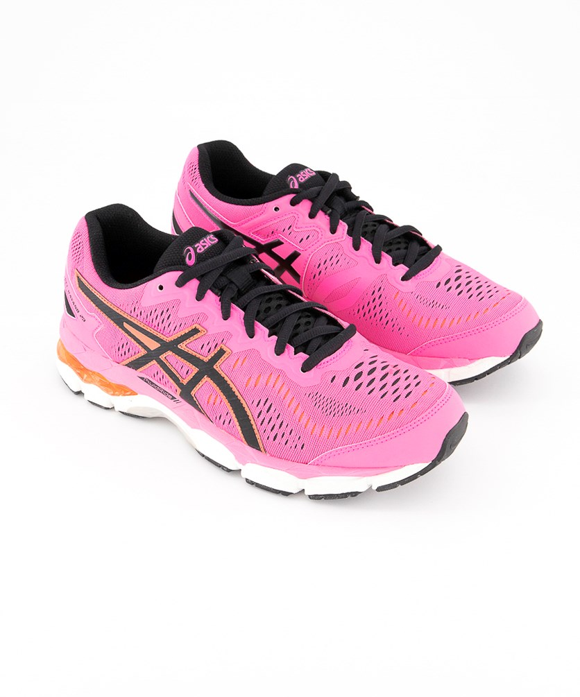 Big Girl's Gel Kayano 23 Gs Running Shoes, Hot Pink/Black/White