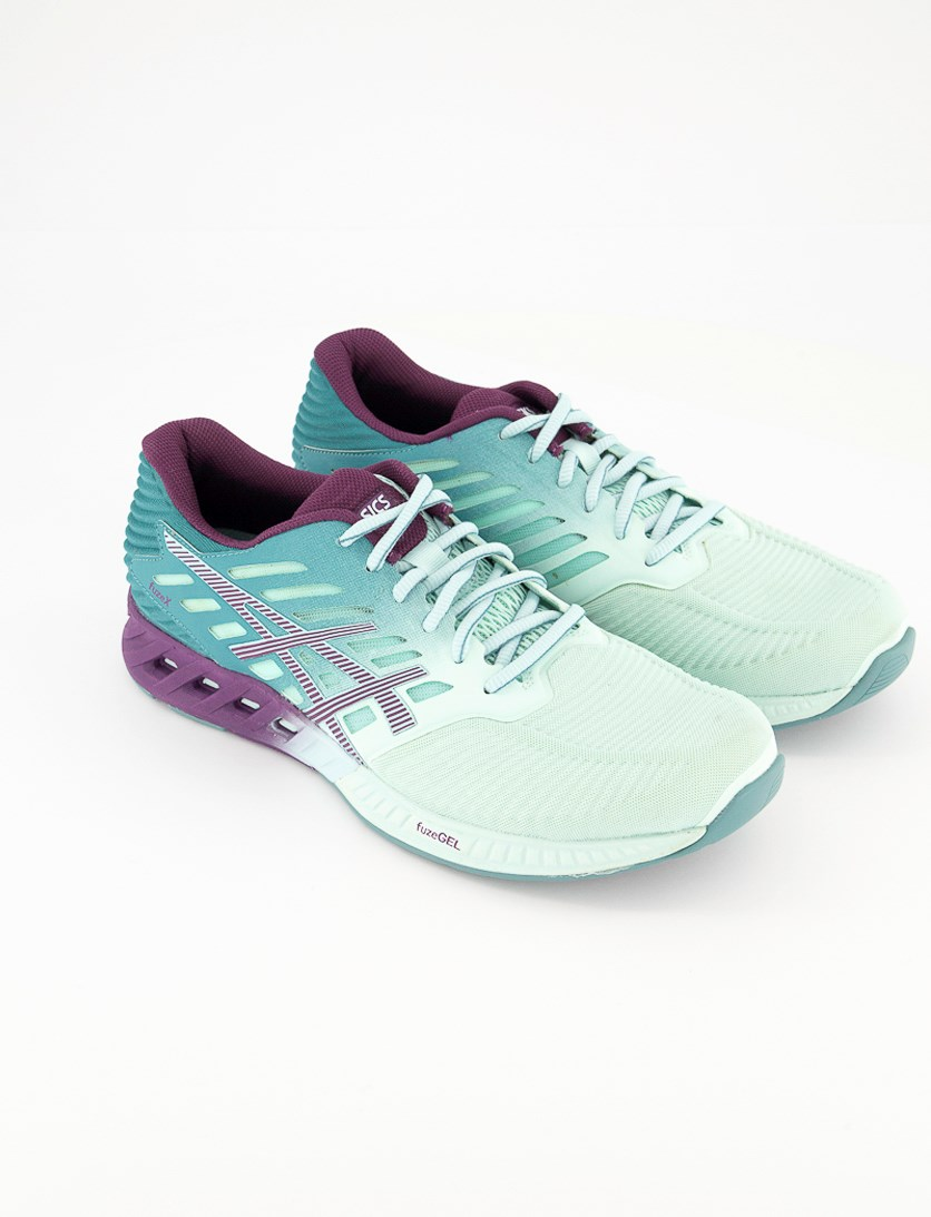 Women's Fuze Running Shoes, Turquoise/Purple