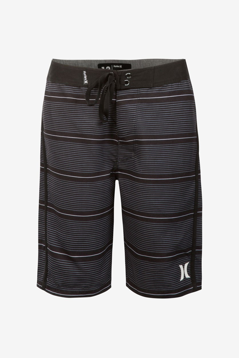 Boys Shoreline Board Shorts, Black