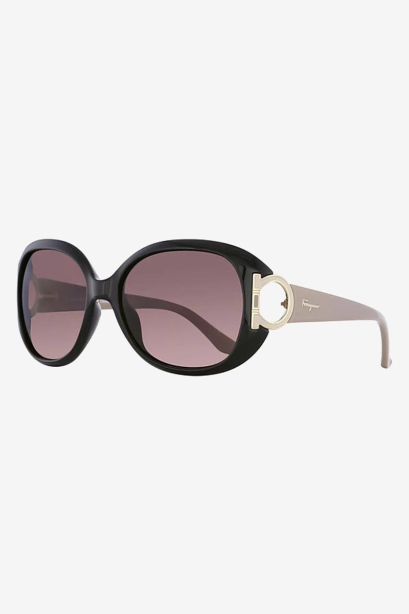 Women's Gradient Sunglasses, Black/Nude