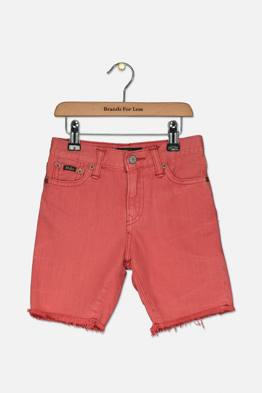 Boys' Denim Shorts, Finn Red