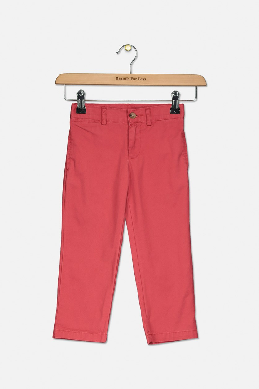 Toddler Boys Cotton Twill Chino Pants, Nantucket Red