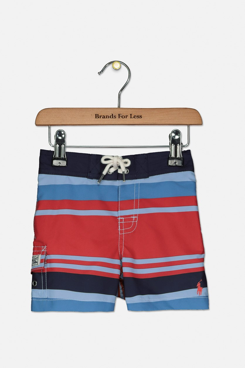 Baby Boys Swim Trunks, Red/Navy
