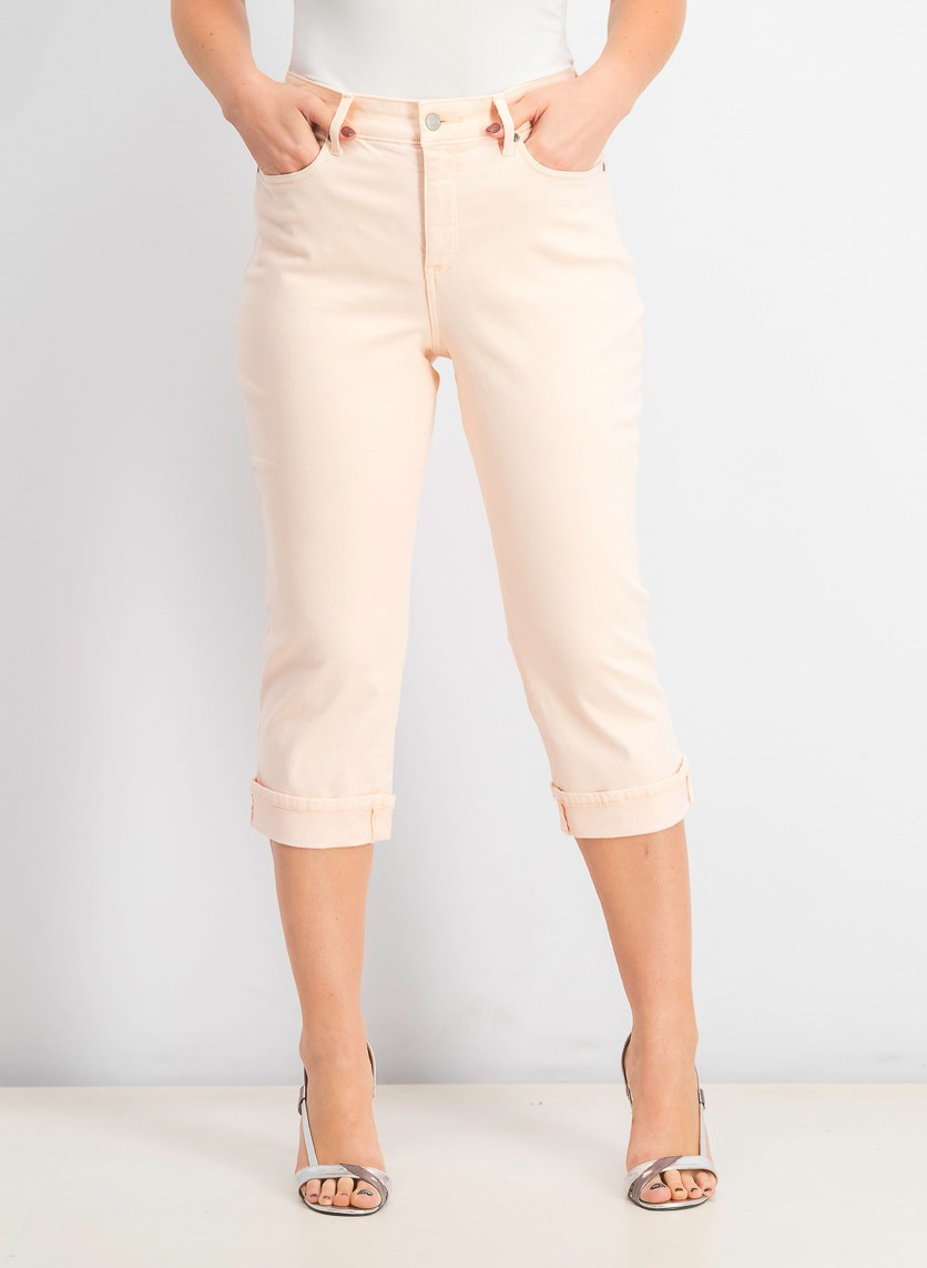 Women's Marilyn Straight Crop Jeans, Pink Dusk