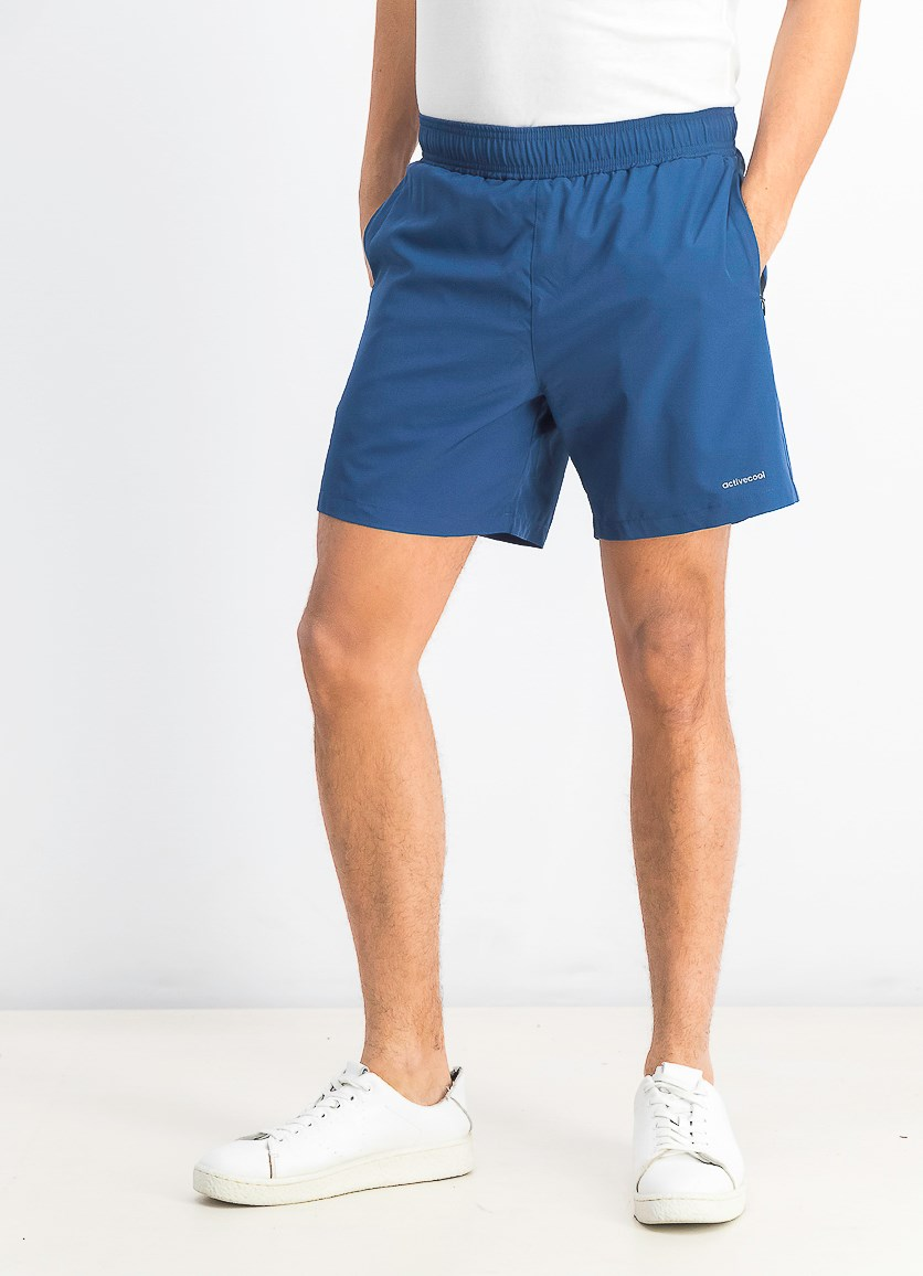 Men's Active Short With Mesh Inside, Dark Denim