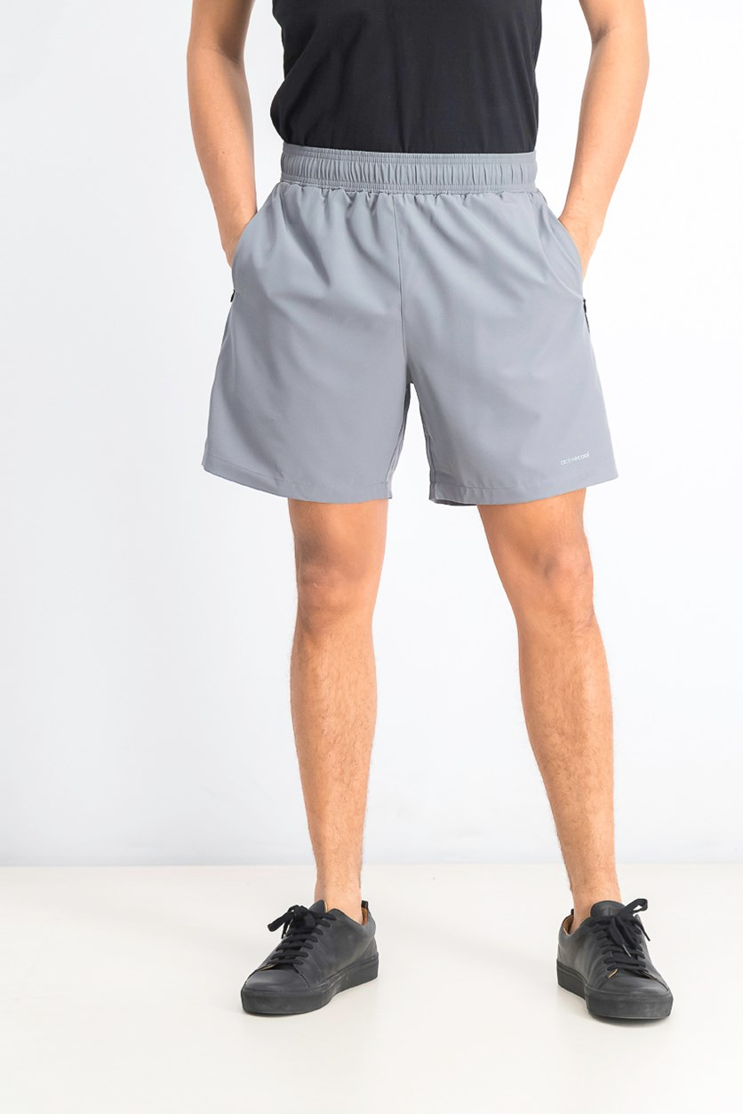 Men's Active Short With Mesh Inside, Steel Grey