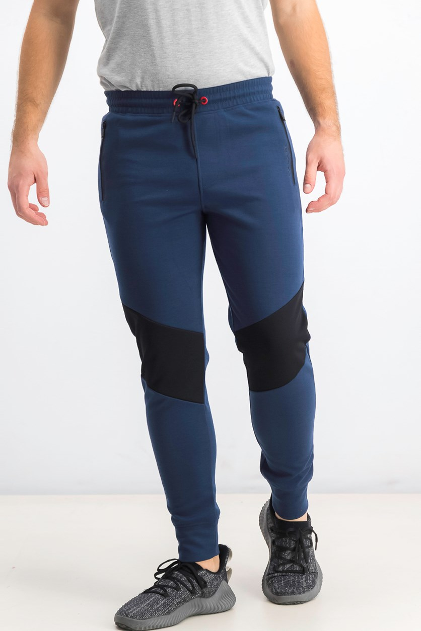 Men's Colorblock Jogger Pants, Navy/Black