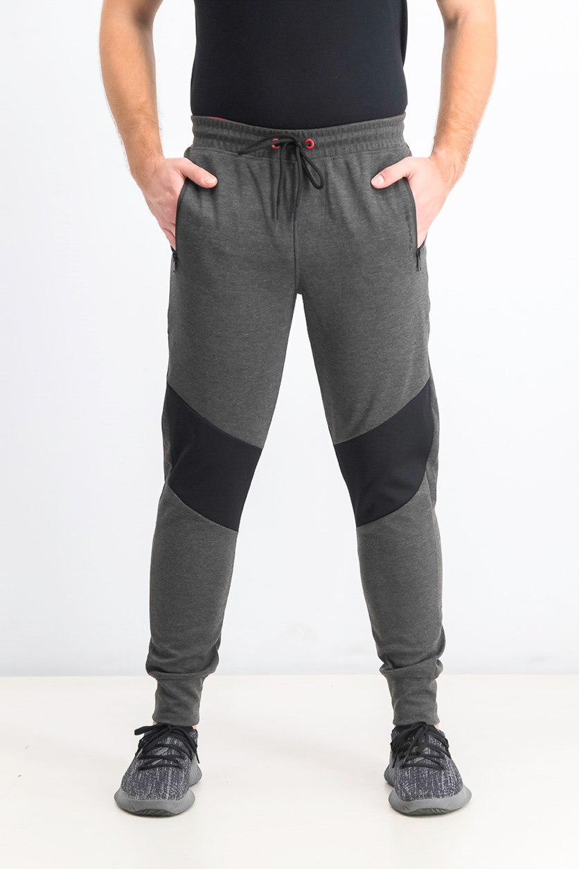 Men's Drawstring Jogger Pants, Dark Melange