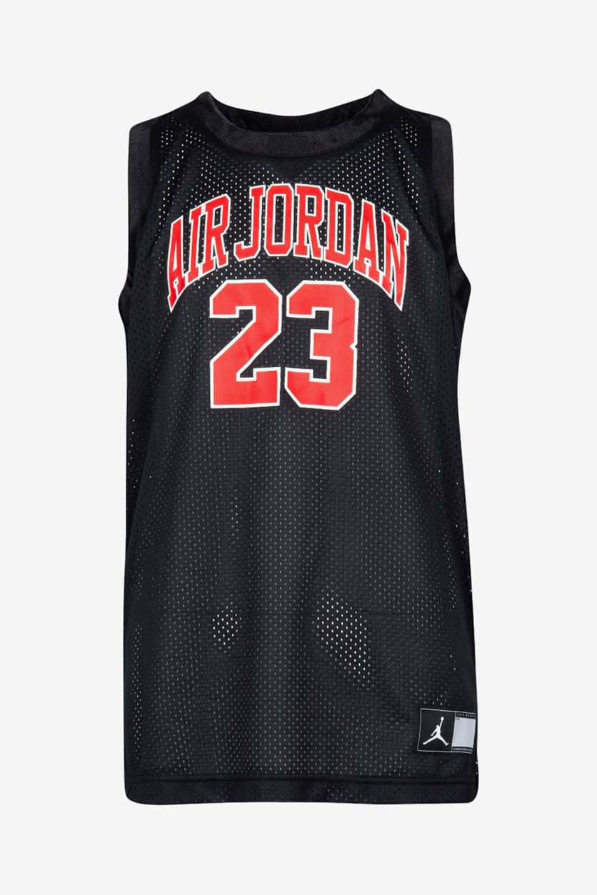 Big Boys Air Jordan-Print Tank Top, Black/Red