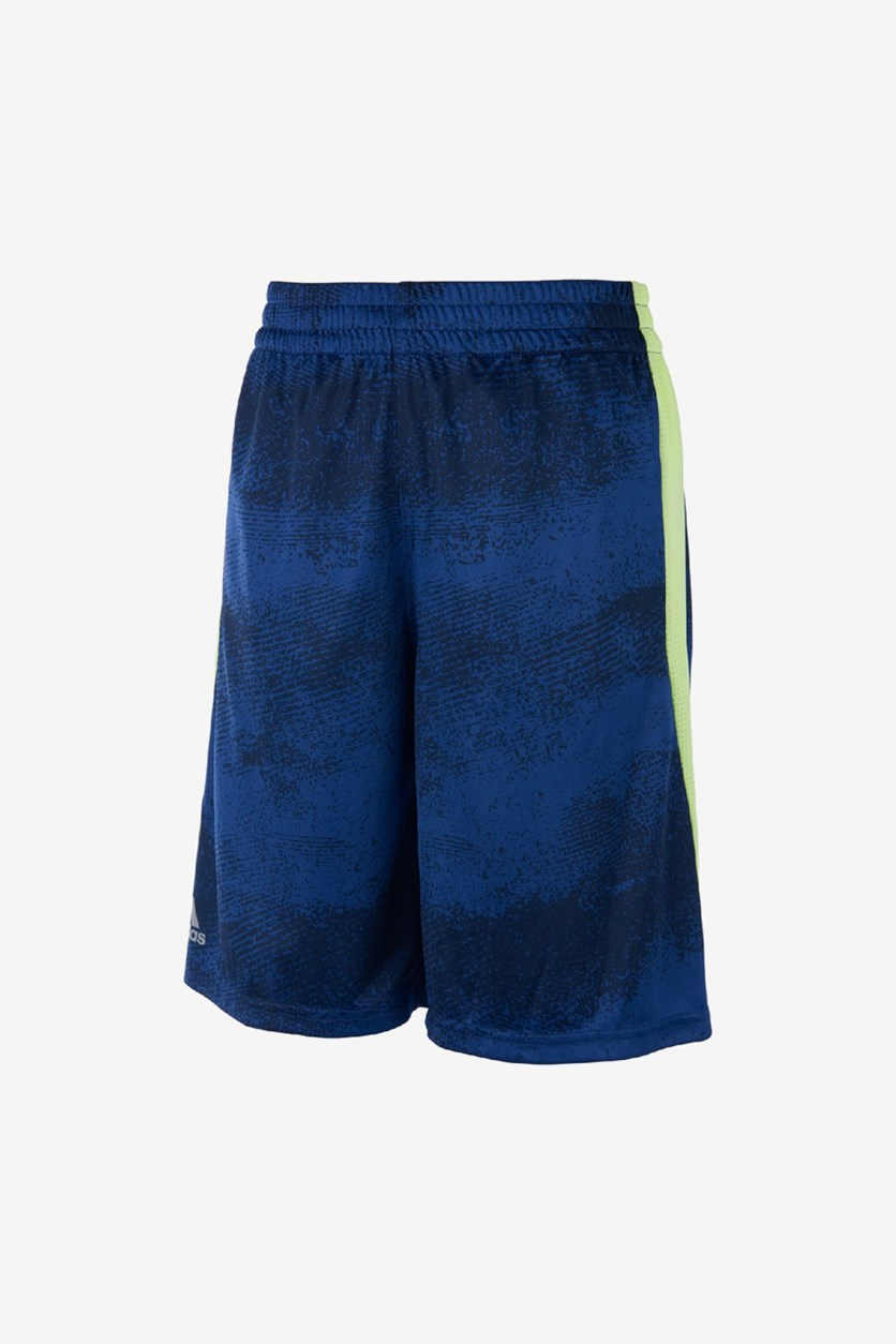 Little Boy's Fusion Short, Navy/Neon
