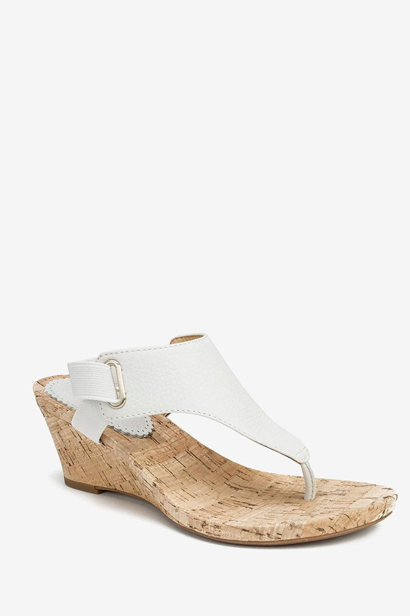 Women's All Glad Sandal, White Leather