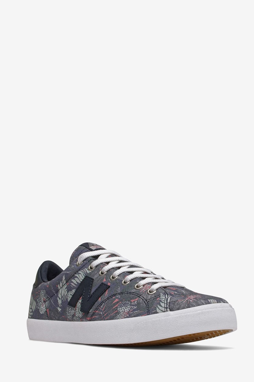 Men's Printed Lace Up Shoes, Navy/Purple