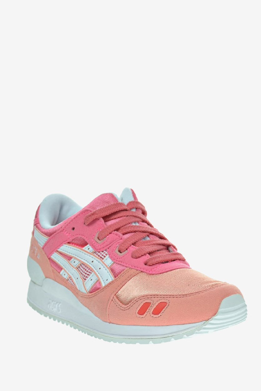 Big Girl's Gel Lyte III Gs Running Shoes, Guava/White