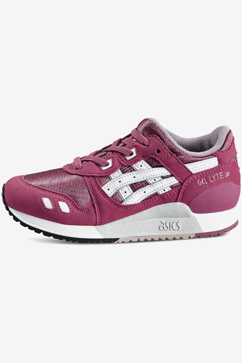 Kids Girls Gel Lyte III Sport Shoes, Malaga/White
