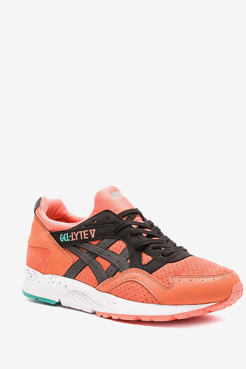 Men's Gel-Lyte V Running Shoes, Coral/Black