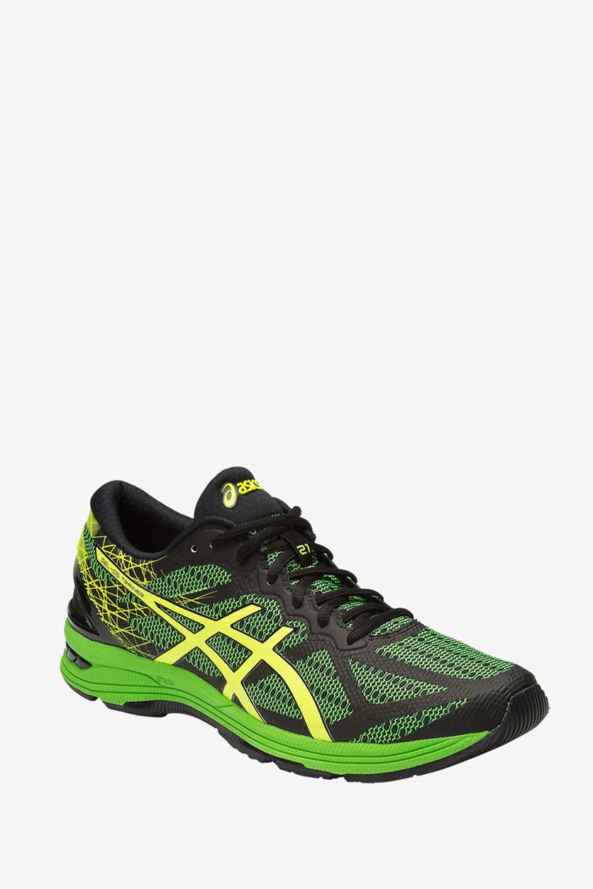 Men's Gel-Ds Trainer 21 Running Shoes, Black/Green/Safety Yellow