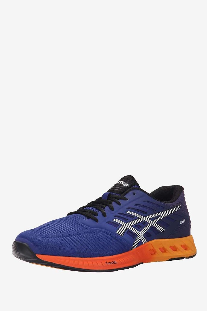 Men's Fuze X Running Shoes, Asics Blue/Indigo Blue/Hot Orange