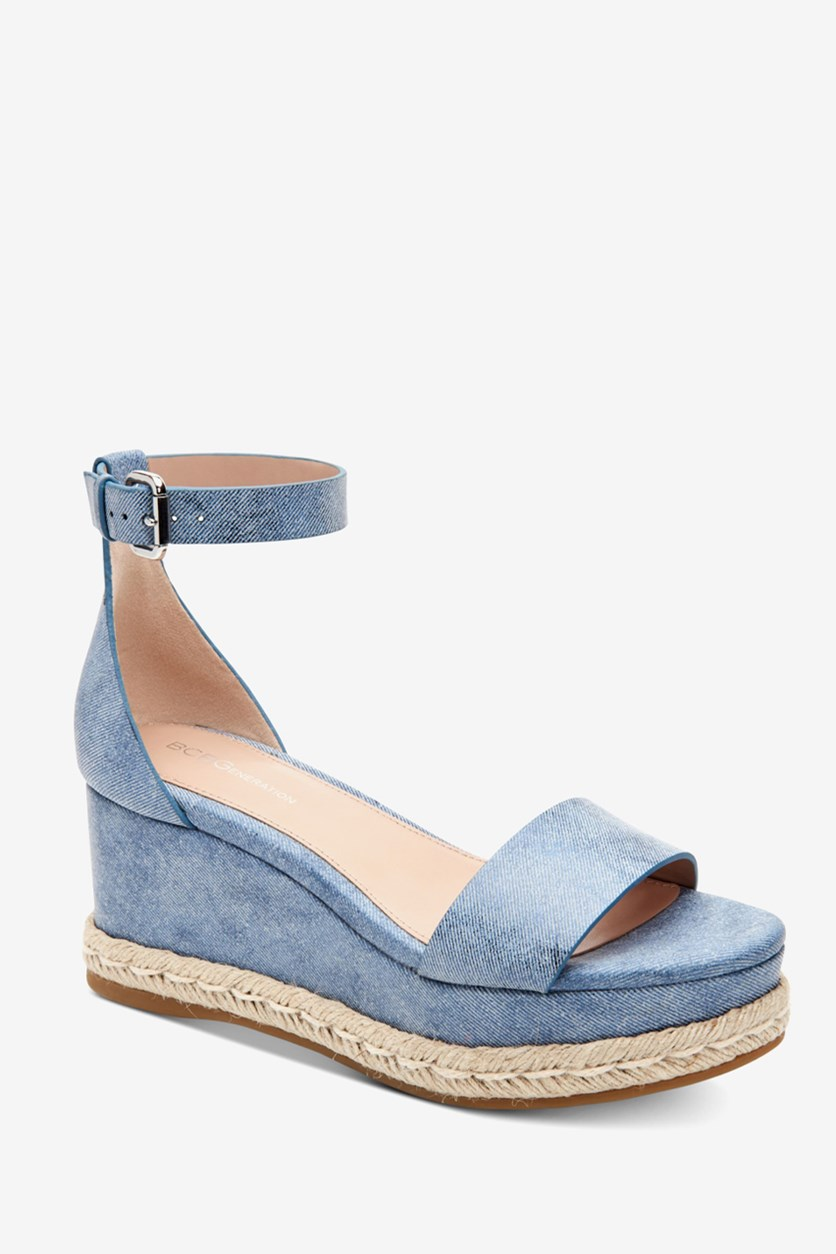 Women's Addie Espadrille Wedge Sandals, Blue