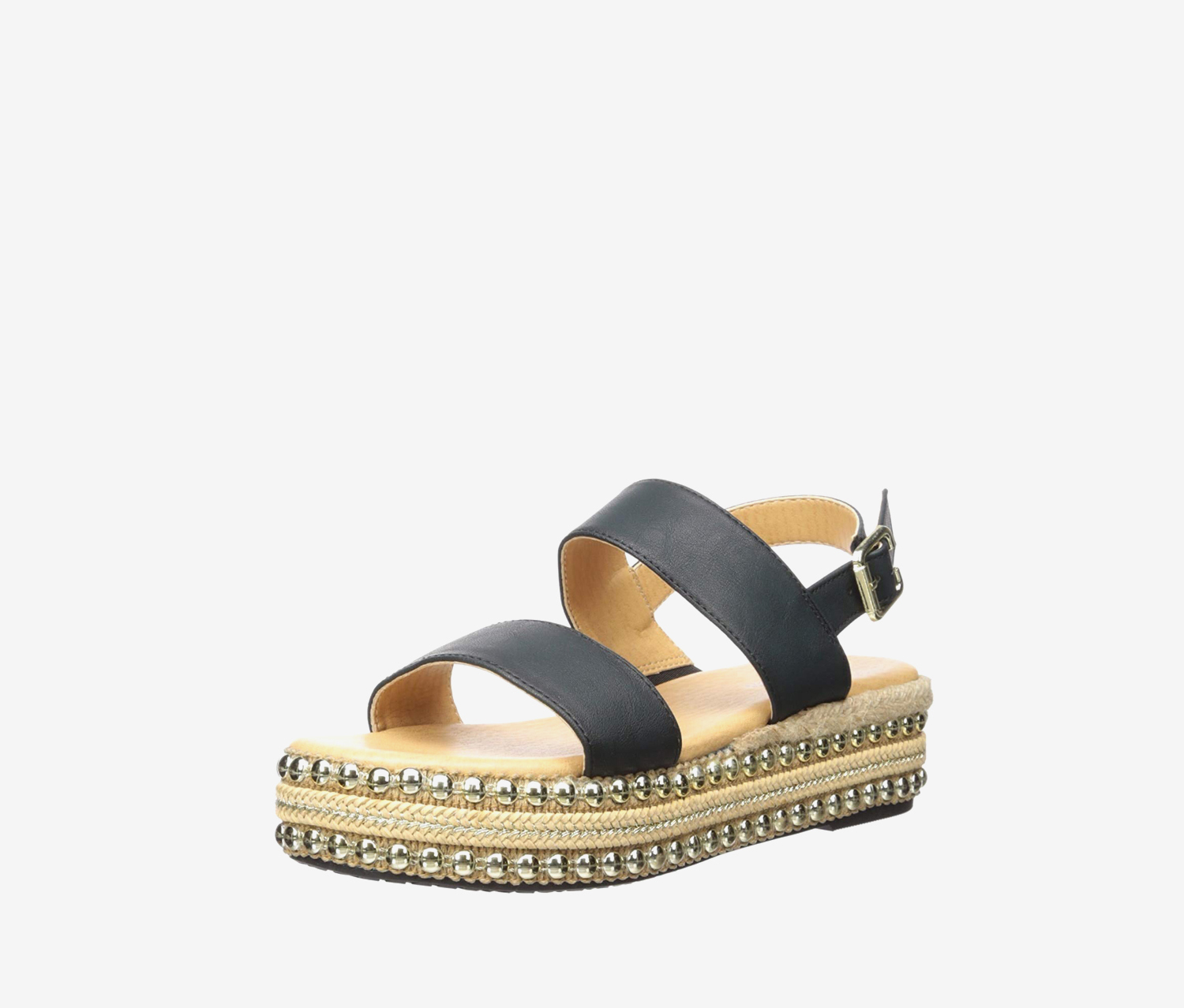 Women's Berenice Sandal, Black/Burnished/Smooth