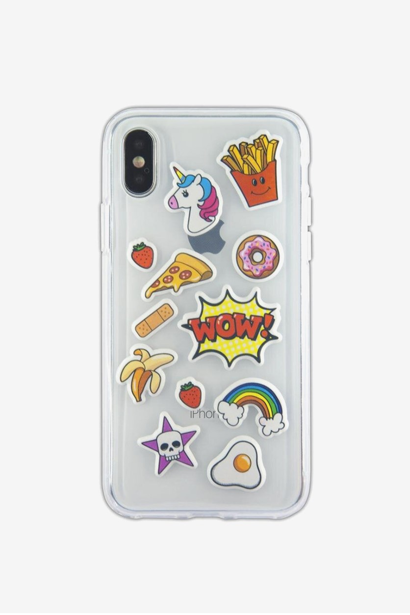 Wow Sticker Soft Case, Transparent