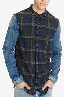 Men's Classic Fit Plaid Sadrindo Shirt, Blue