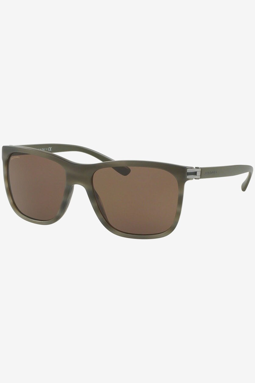Men's 7027 5394/73 Sunglasses, Matte Olive Green