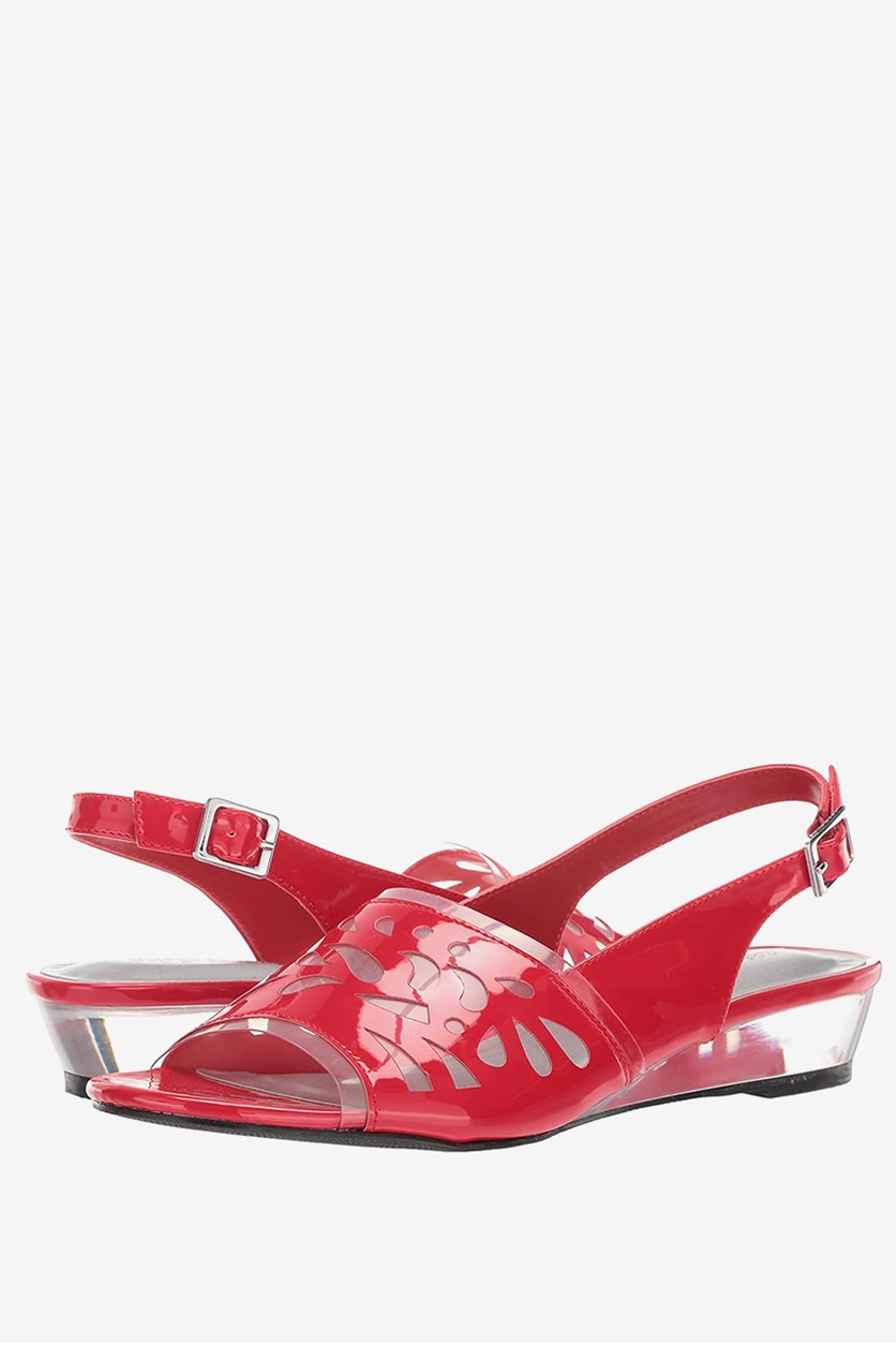 Women's Celebrate Slingback Sandals, Red Patent