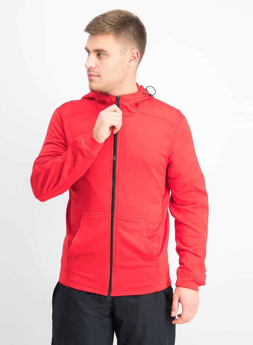 Men's Spark Full Zip Hooded Jacket, Scarlet Red