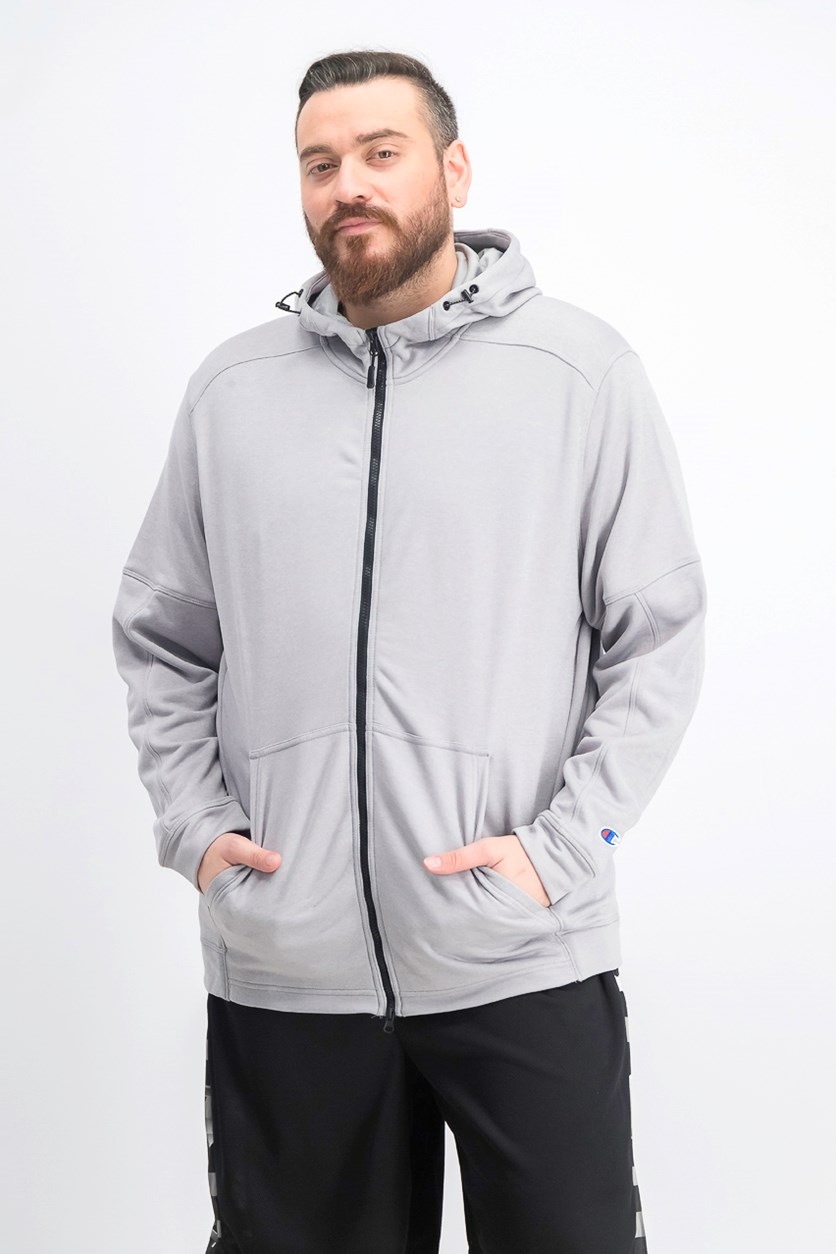 Men's Spark Full Zip Hooded Jacket, Oxford Heather Grey