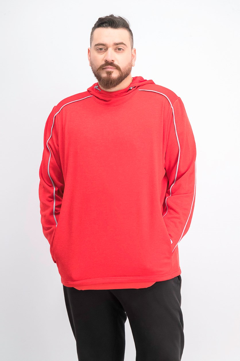 Men's Athleticwear Hooded Sweater, Red