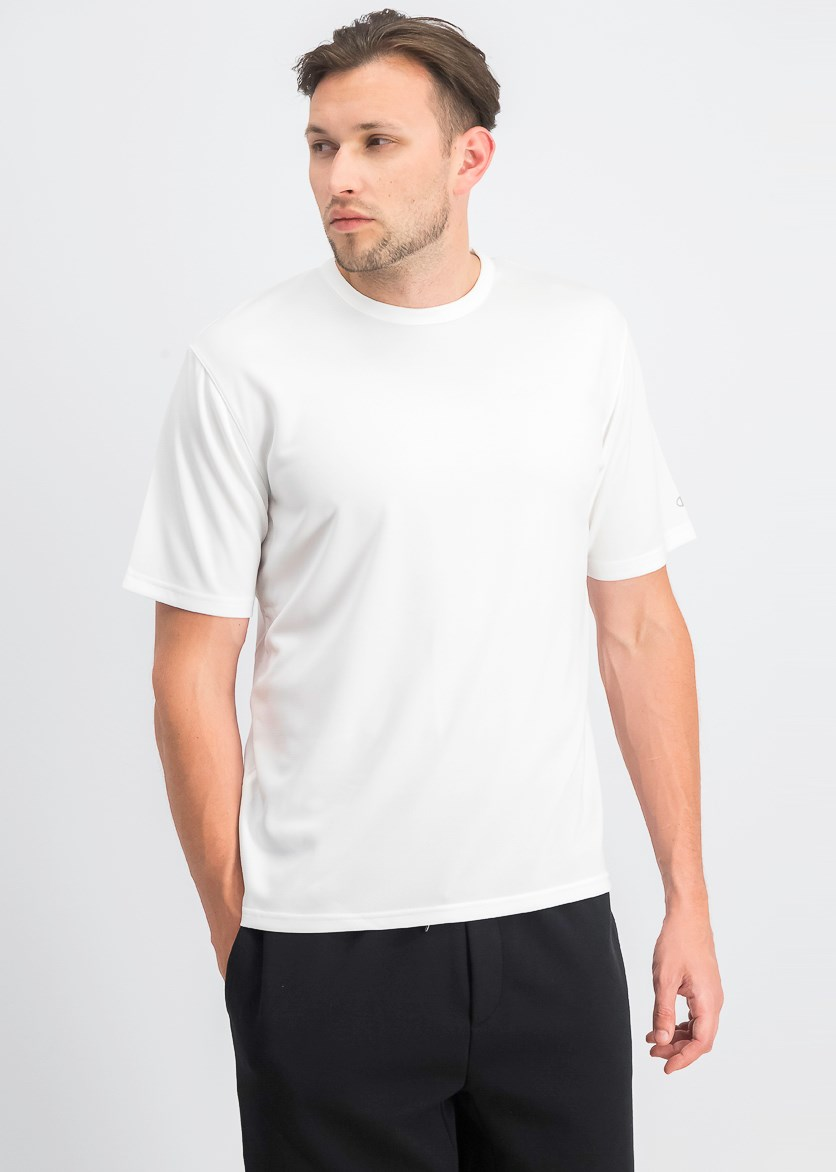 Men's Plain Short Sleeve Tee, White