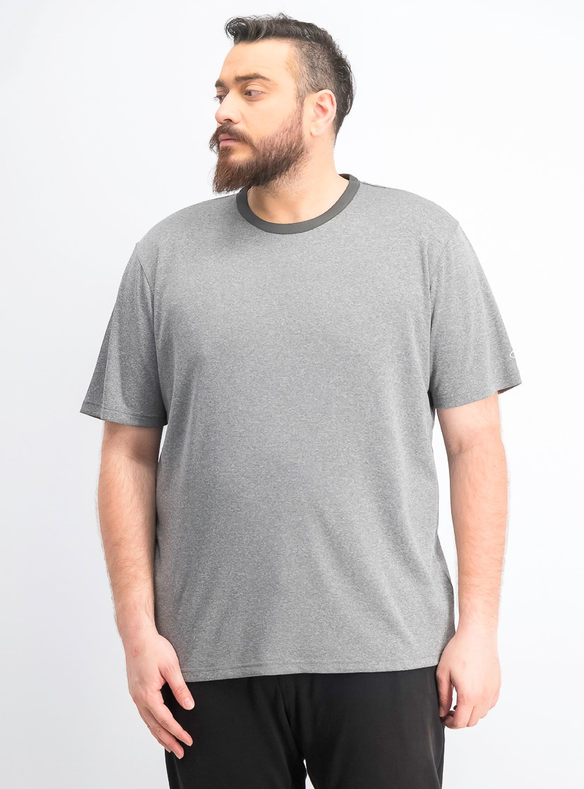 Men's Heather Ringer Tee, Granite