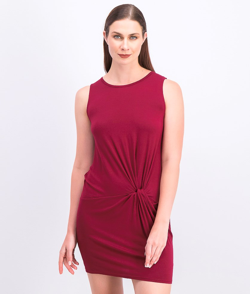 Women's Knot Dress, Marron