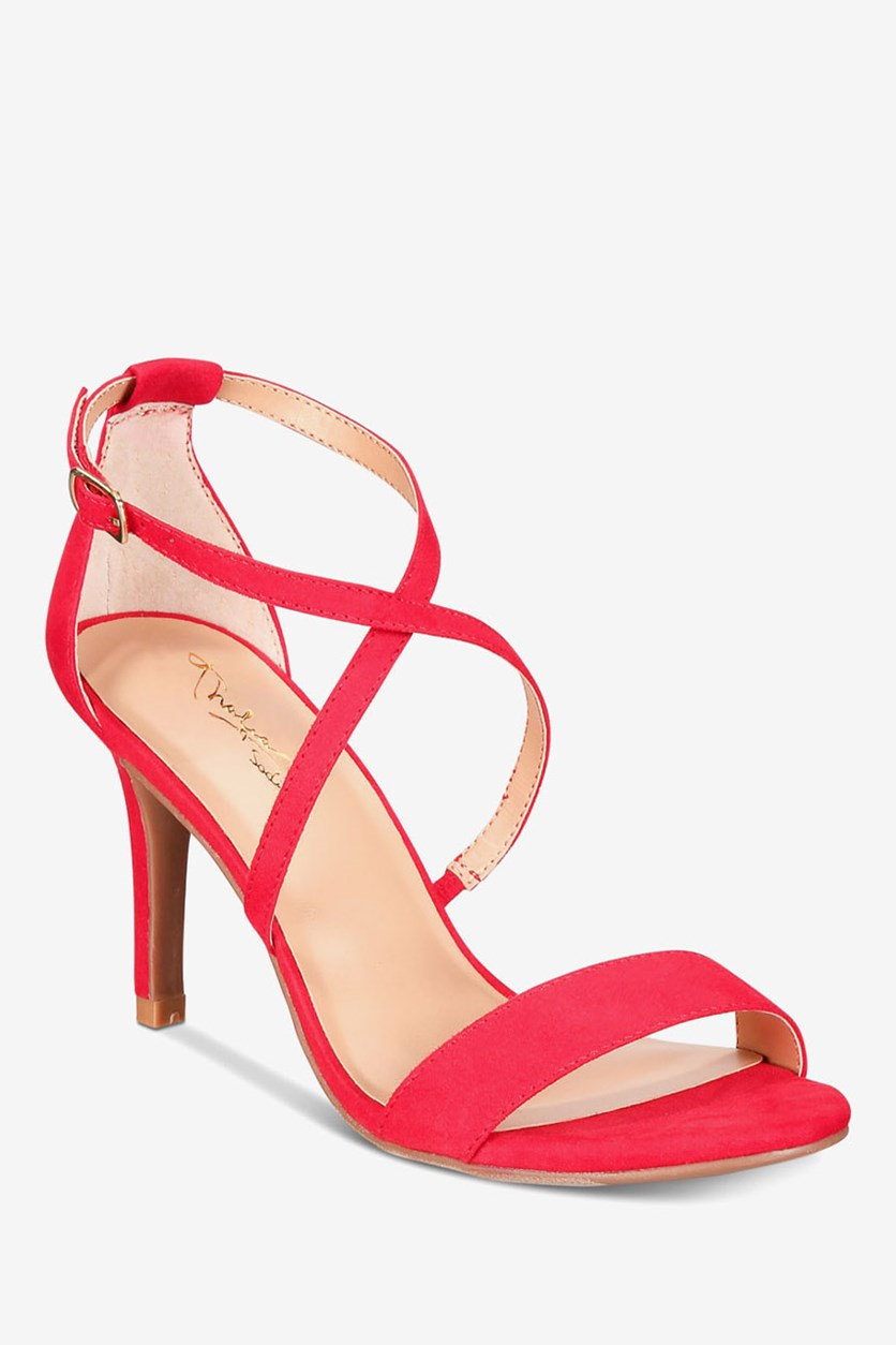 Women's Darria2 Casual Ankle Strap Sandals, Red