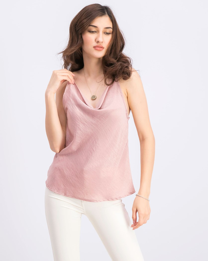 Women's Spaghetti Strap Top, Old Rose