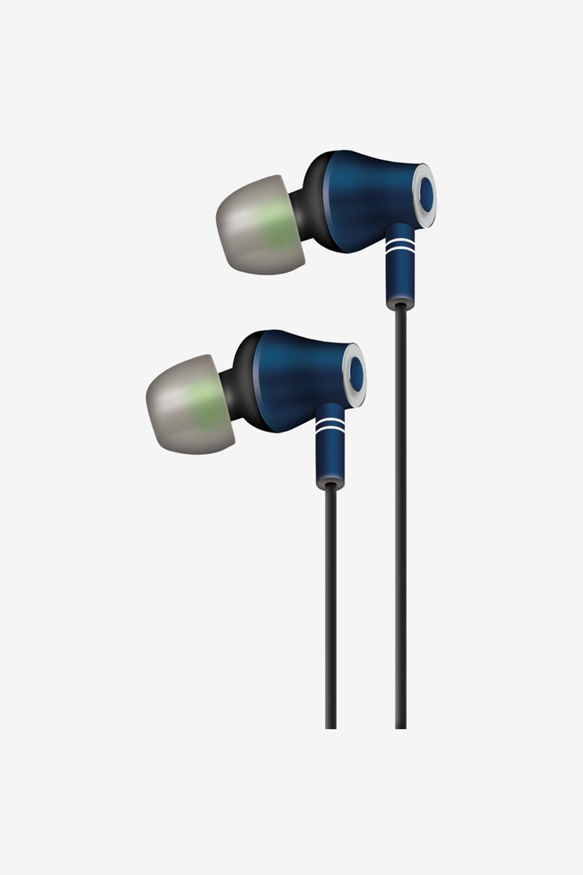 E10 Stereo Earbuds, Navy Combo