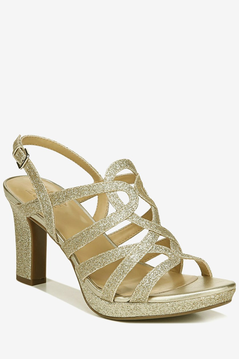 Women's Cameron Sandals, Gold Glitter